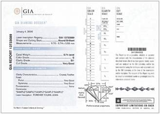 gia certification - Diamond Certificate Of Authenticity Template